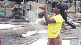 非洲女孩纵向 股票视频
