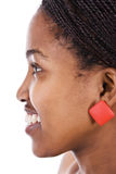 非洲女孩纵向 免版税库存图片