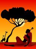 非洲女孩 免版税库存照片