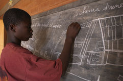 非洲学员 库存照片