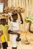 非洲孩子在加纳 库存照片