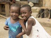 非洲孩子在加纳 图库摄影