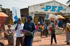 非洲市场 免版税库存图片