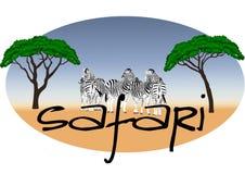 非洲徽标徒步旅行队 库存照片