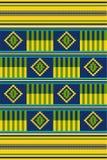 非洲打印 布料kente 无缝的模式 向量例证