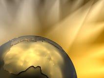 非洲接近的地球金子 库存照片