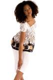 非洲方式女孩姿势 免版税库存照片
