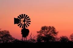 非洲日落在克留格尔国家公园,南非 免版税库存图片