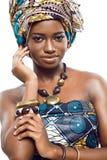 非洲时装模特儿。 库存图片