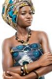 非洲时装模特儿。 免版税库存图片