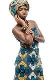 非洲时装模特儿。 免版税库存照片