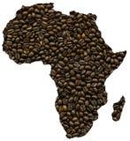 非洲映射 库存图片