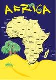 非洲映射 免版税图库摄影
