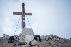 非洲最高的水平的kilimanjaro klilimanjaro山mt屋顶顶视图 Mangart 免版税库存图片