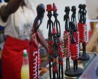 非洲木小雕象 免版税库存图片