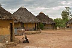 非洲村庄 免版税图库摄影