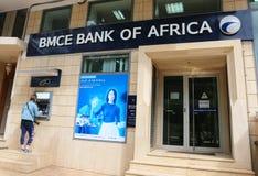 非洲标志和商标BMCE银行  库存照片