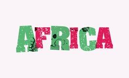 非洲概念被盖印的词艺术例证 图库摄影
