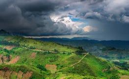 非洲横向雨季 库存图片