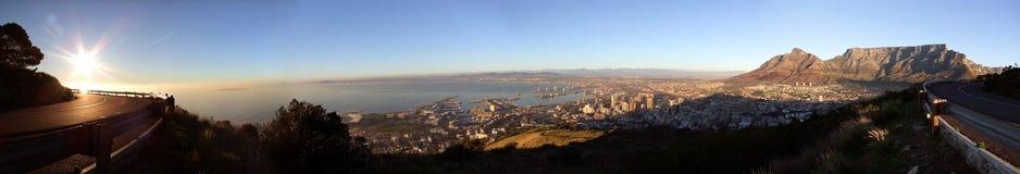非洲海角全景南城镇视图 免版税库存照片