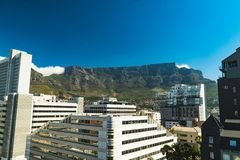 非洲海角山南表城镇 免版税库存照片