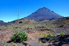 非洲海角fogo海岛verde火山 免版税库存照片