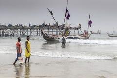 非洲渔夫 库存照片