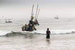 非洲渔夫 免版税库存照片