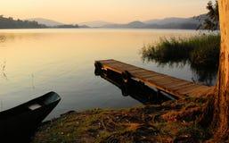 非洲湖 库存图片