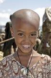 非洲漂亮的孩子微笑 免版税库存图片