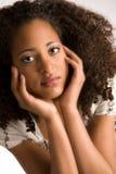 非洲甜妇女 免版税库存照片