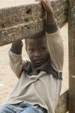 非洲男孩在加纳 免版税库存图片