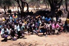 非洲男小学生 免版税库存照片