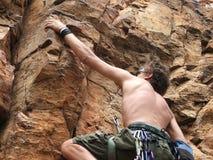 非洲登山人 免版税库存图片