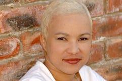 非洲白肤金发的女孩 图库摄影