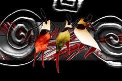 非洲种族减速火箭的葡萄酒例证 库存图片