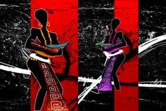 非洲种族减速火箭的葡萄酒例证 图库摄影