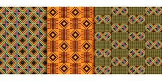 非洲种族无缝的样式 设计几何 免版税库存图片
