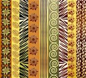 非洲织品 库存照片