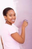 非洲绘画妇女 库存图片