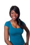 非洲美好的微笑宽妇女 免版税库存图片