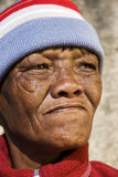 非洲老妇人 免版税库存图片