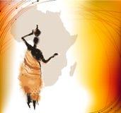 非洲背景 库存图片
