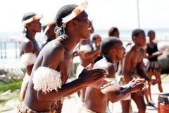 非洲舞蹈演员南祖鲁族人 库存图片