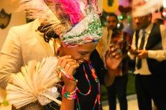 非洲舞蹈演员 免版税库存照片