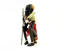 非洲艺术小雕象 库存照片