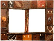 非洲艺术框架照片 免版税库存照片
