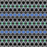 非洲蓝色模式 库存例证