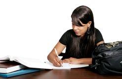 非洲裔美国人女孩学习 库存图片