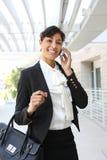 非洲裔美国人的企业俏丽的妇女 免版税库存照片